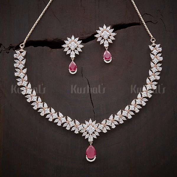 Designer Zircon Necklace Studded With