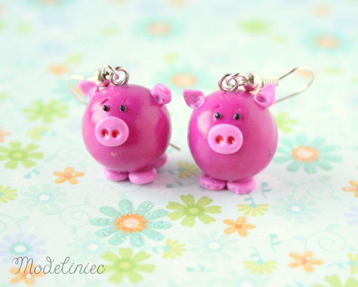 Okragłe swinki z modeliny | Modeliniec #polymerclay #pigs #modeliniec