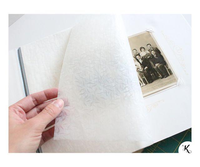 Wedding photoalbum - handmade bookbinding | Svatební fotoalbum - ruční knižní vazba | transparent paper | pauzovací průsvitný papír