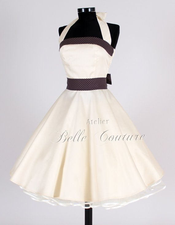 Reception dress? 50s wedding dress item Elisa by atelierbellecouture on Etsy