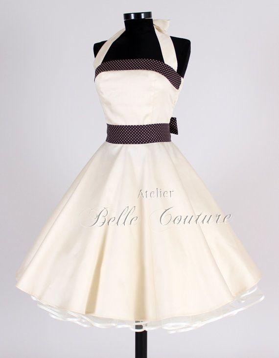 50s wedding dress item Elisa by atelierbellecouture on Etsy
