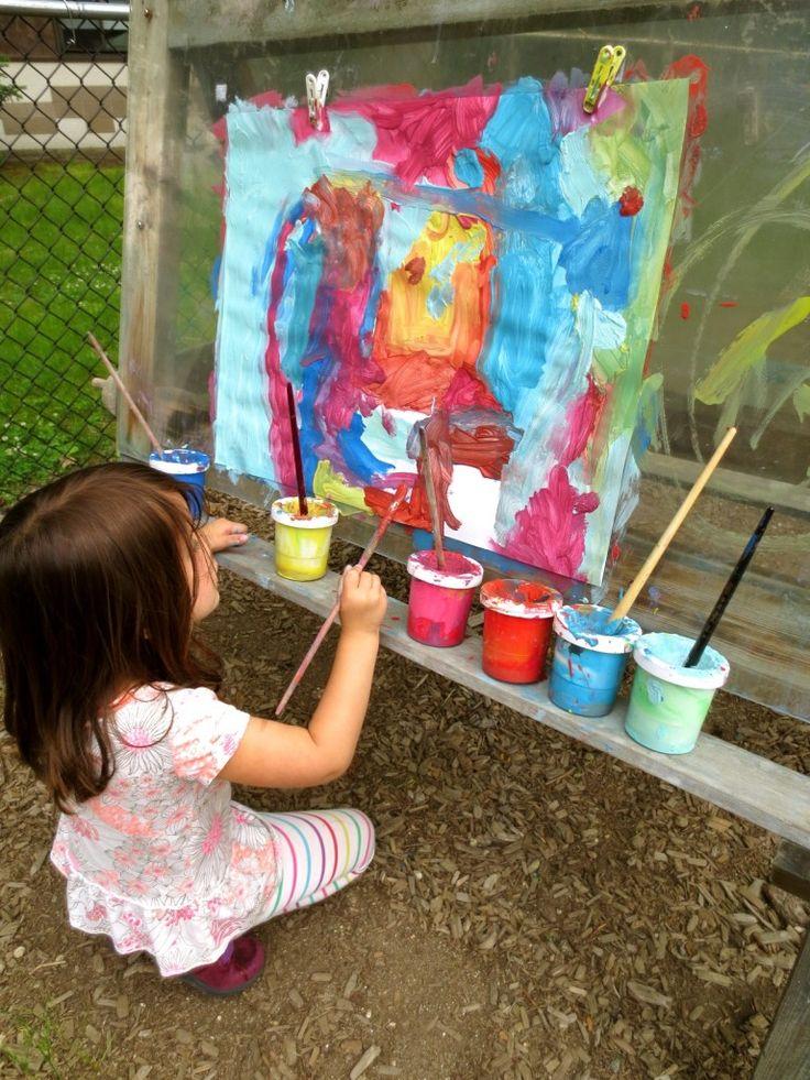 194 best reggio children and art images on pinterest for for Best paint for yard art