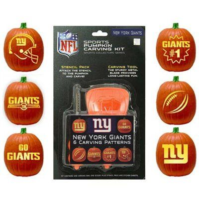 New York Giants Pumpkin Carving Kit I may have to try this for my husband :)