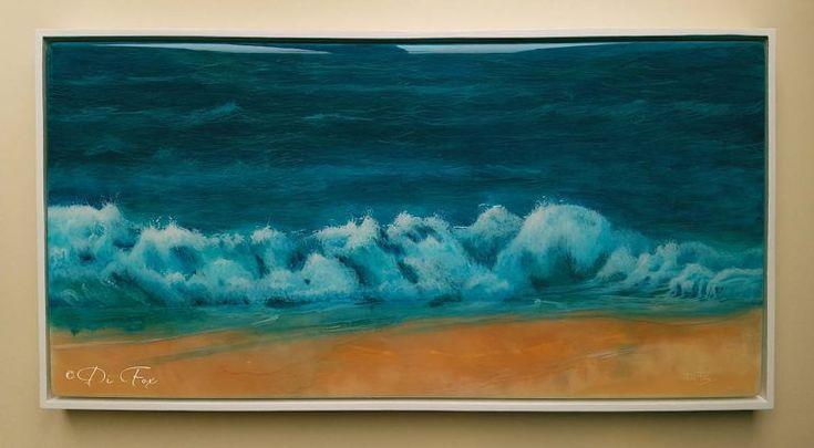 Ocean Dream - original resin seascape painting by Di Fox