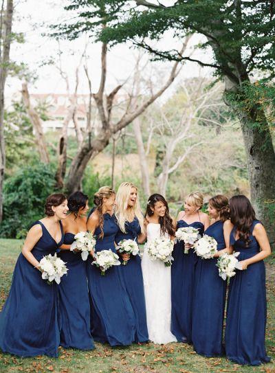 Nautical bridal party palette: http://www.stylemepretty.com/2015/03/03/modern-nautical-newport-wedding/   Photography: Judy Pak - http://judypak.com/