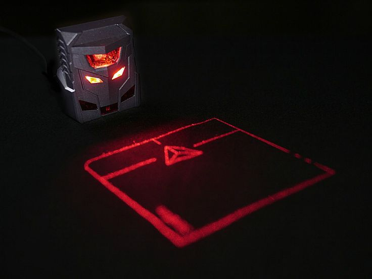 ODiN Aurora Mouse Is the First to Use Laser Projection