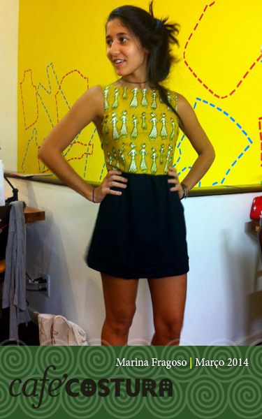 "Marina Fragoso se ""descabelou"" pra fazer o vestido, mas valeu a pena!!"