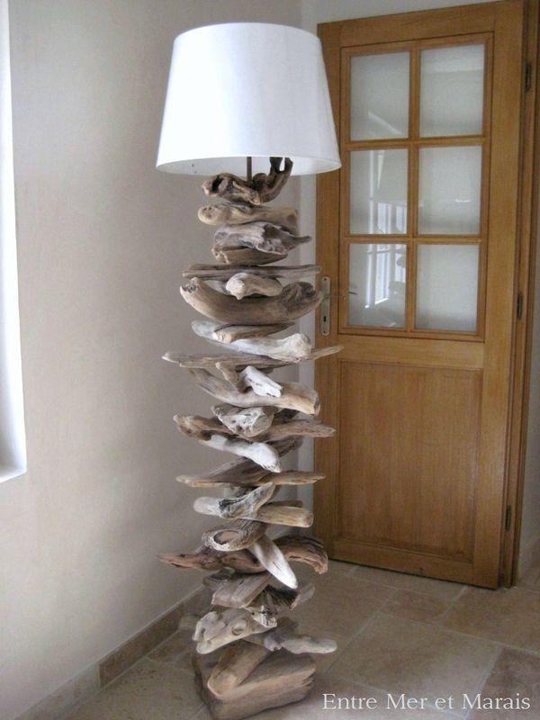 lampadaire bois flott 1 d co pinterest. Black Bedroom Furniture Sets. Home Design Ideas