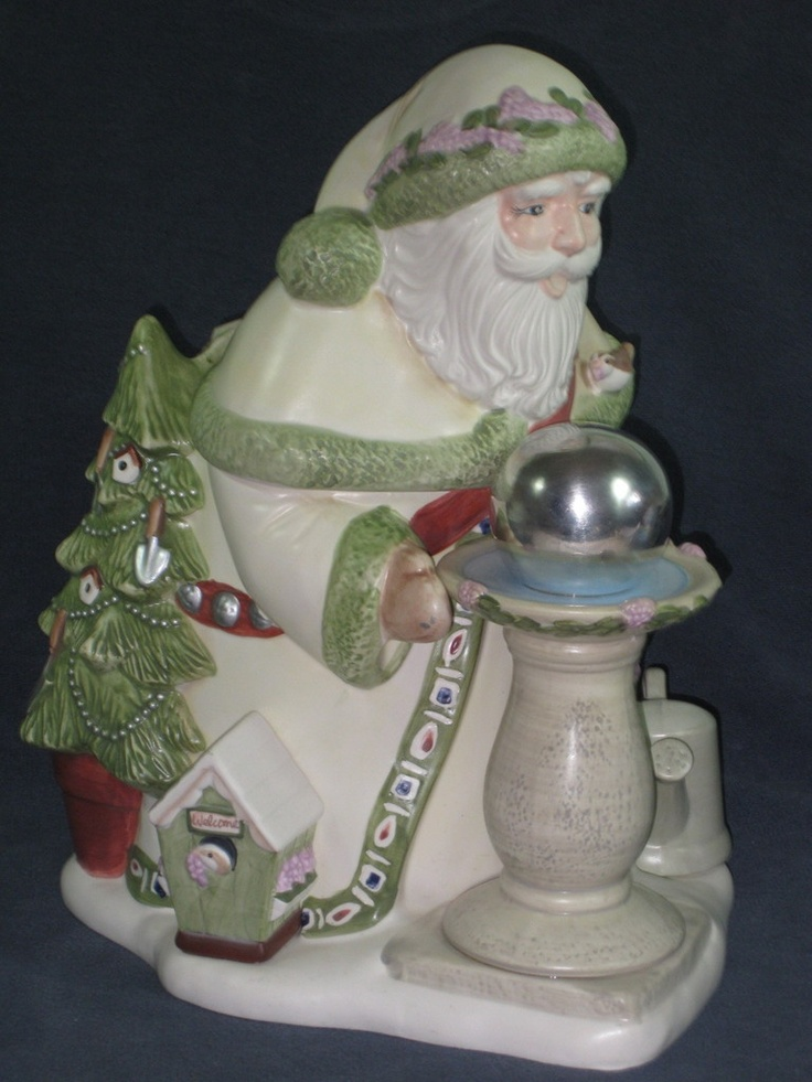 pfaltzgraff naturewood santa claus christmas cookie jar i have read this is a unique find