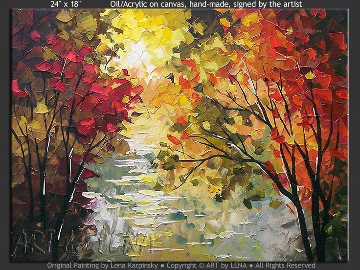 """Silver Lake Miniature"" - Original Landscape Art by Lena Karpinsky, http://www.artbylena.com/original-painting/21058/silver-lake-miniature.html"