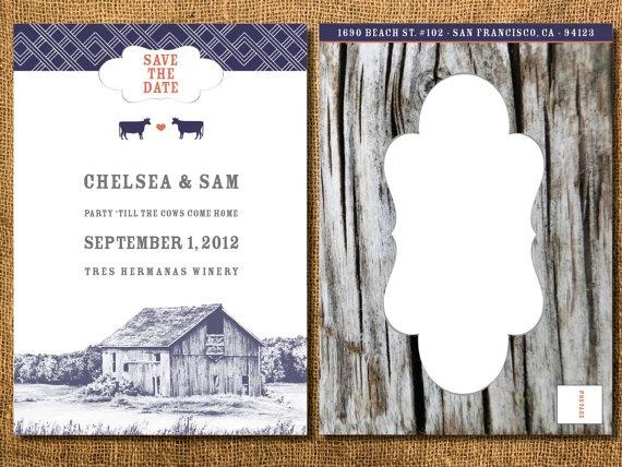 Barn Wedding Save-the-Date