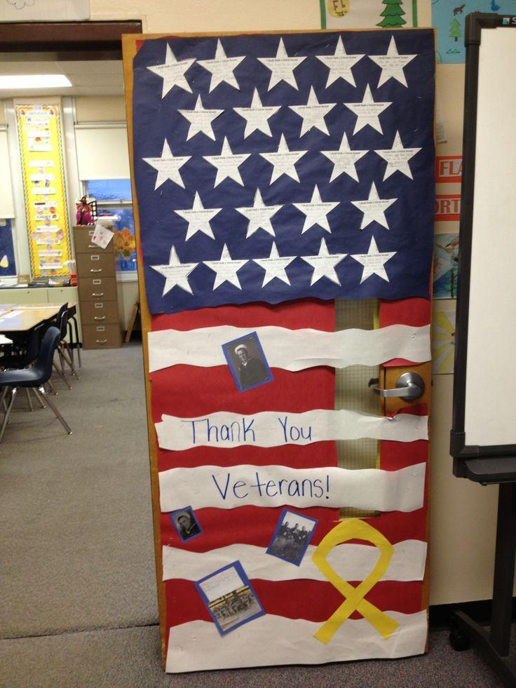 Veterans Day Classroom Door Decoration Ideas ~ Best veteran s day images on pinterest classroom