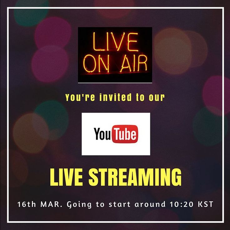 Youtube Live Stream on 16th MAR 10:10 K.S.T  We are on every Thursday and of course there is a giveaway during the Live so check out !  We want all of you to watch and give us a opinion on our show, We'd really love to communicate with you in any ways.