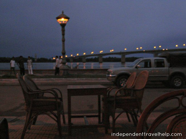 The riverfront in Kampong Cham