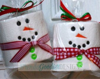Personalized Embroidered Toilet Paper - Gift - White Elephant Gift - Gag Gift - Snowman