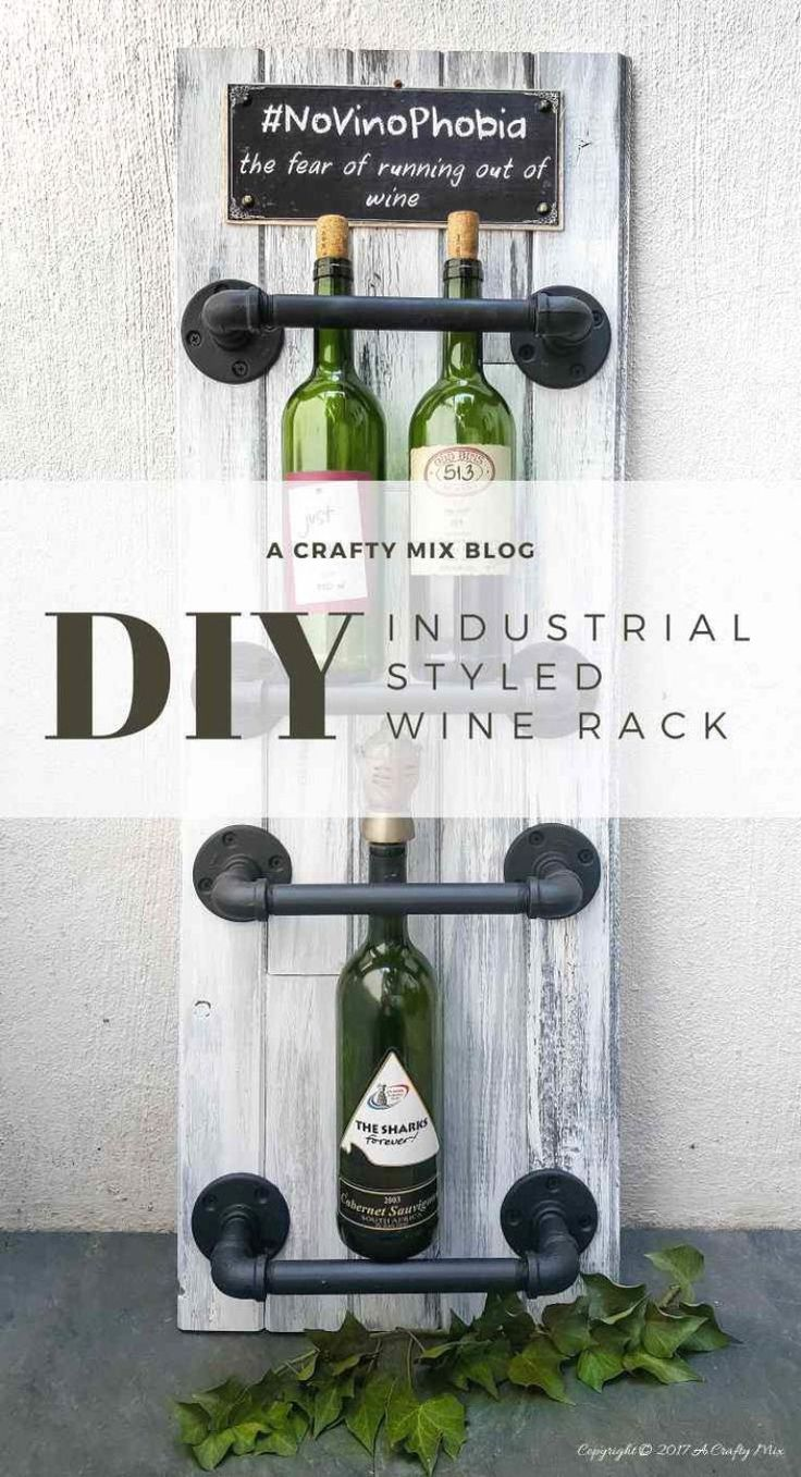 A quick and easy industrial chic pipe wine rack