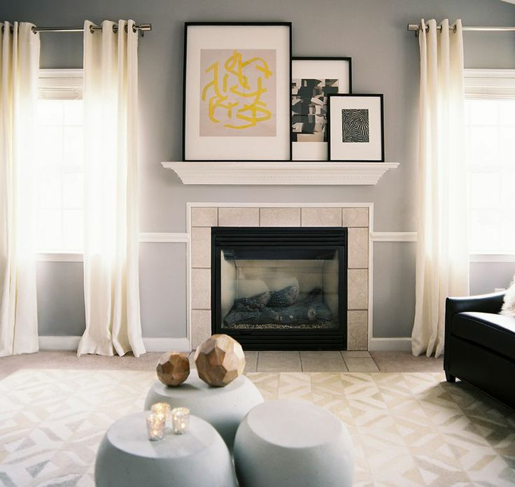 love the mantel.  and how simple everything looks.