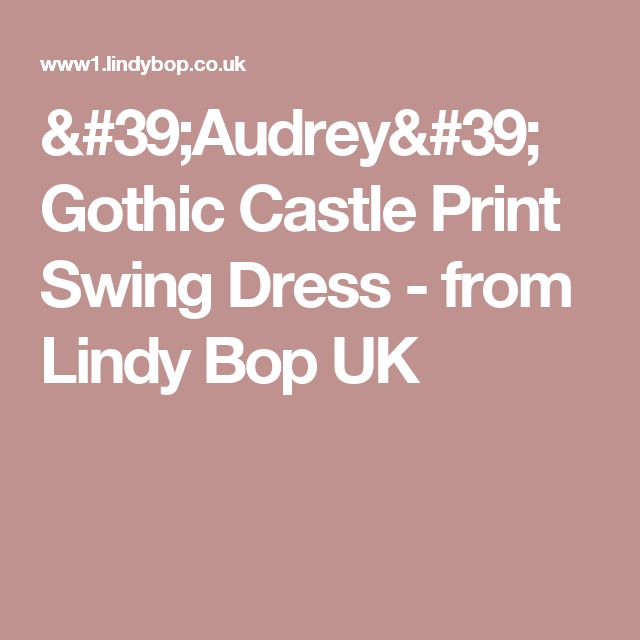 'Audrey' Gothic Castle Print Swing Dress -  from Lindy Bop UK