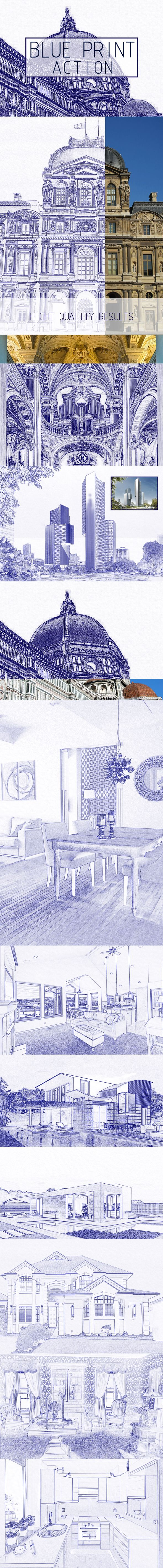 Architectural Sketch Photoshop Action - Photo Effects Actions