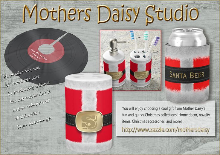 Cool Quirky Christmas Themed Gifts and Home Decor! Be sure to visit Mothers Daisy Studio, for More than just Christmas stuff!