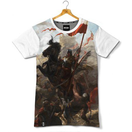 Koszulka patriotyczna Husaria. Bitwa pod Wiedniem - nadruk sublimacyjny - odzież patriotyczna, koszulki męskie Red is Bad