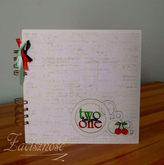 Album ślubny z wiśniami/ Handmade wedding album with cherries