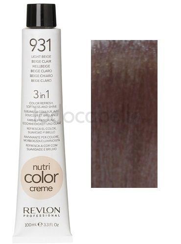 Una coloración de cabello instantánea con un tratamiento nutritivo.  Concentrado de pigmentos iónicos. Interacción de pigmentos electroestáticos inmediatos con la fibra de cabello coloreada. Efecto suavizante y anti-estático.