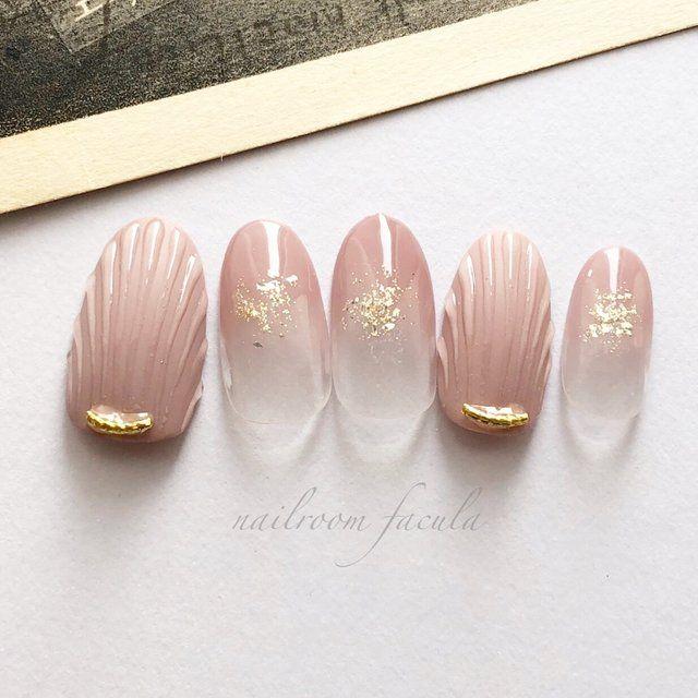 #naildesign #nailart #seashellnailart #elegantnailart #nudenail