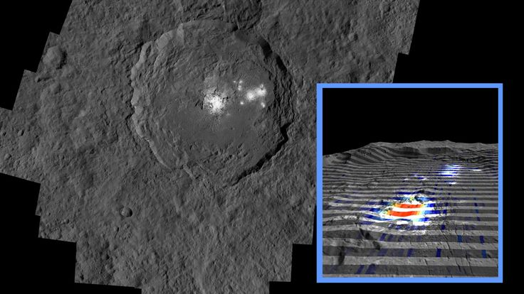 The center of Ceres' mysterious Occator Crater http://www.nasa.gov/feature/jpl/recent-hydrothermal-activity-may-explain-ceres-brightest-area