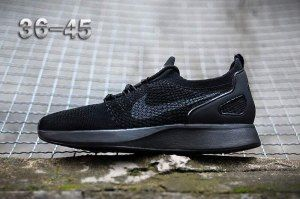 new arrival 5cba4 c6e51 Mens Womens Shoes Nike Air Zoom Mariah Flyknit Racer Triple Black