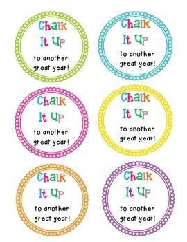 End of the Year Gift Tags - Chalk | The o'jays, End of and ...