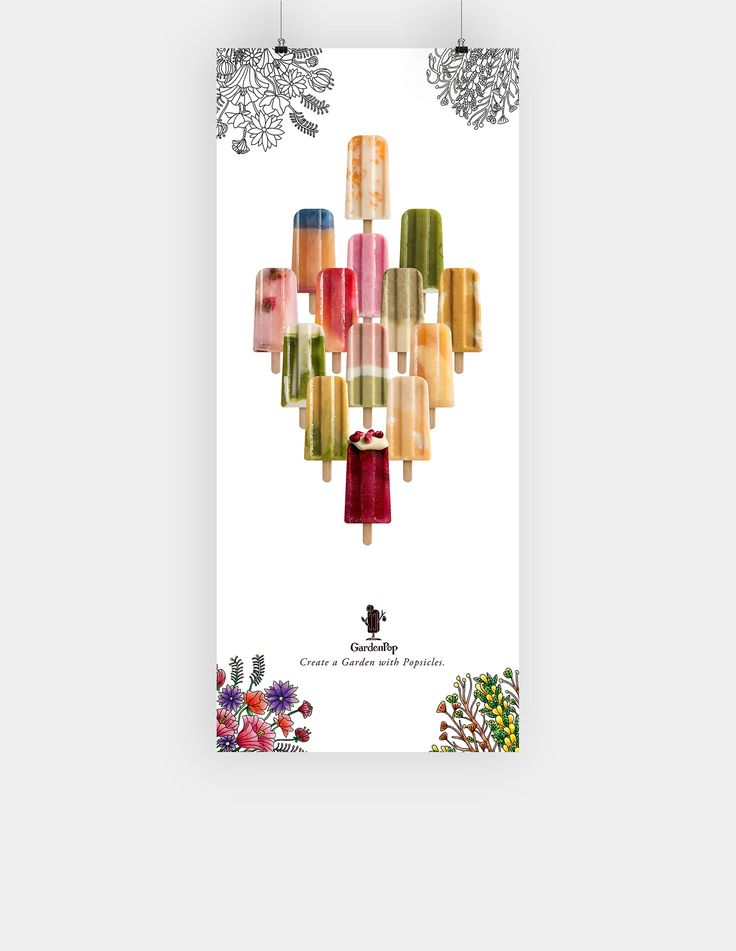 GardenPop on Behance  popsicle brand