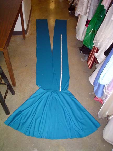 DIY convertible dress.  Minimal sewing with only 4 pieces (2 straps, 1 circular skirt, 1 waistband).  You could probably do this by hand!