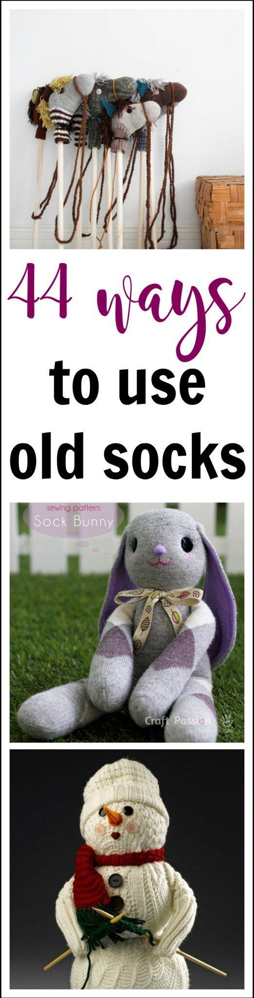 44 ways to use old socks - Domesblissity