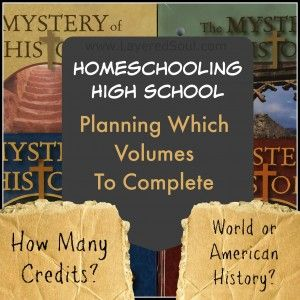 Homeschool High School with The Mystery of History series