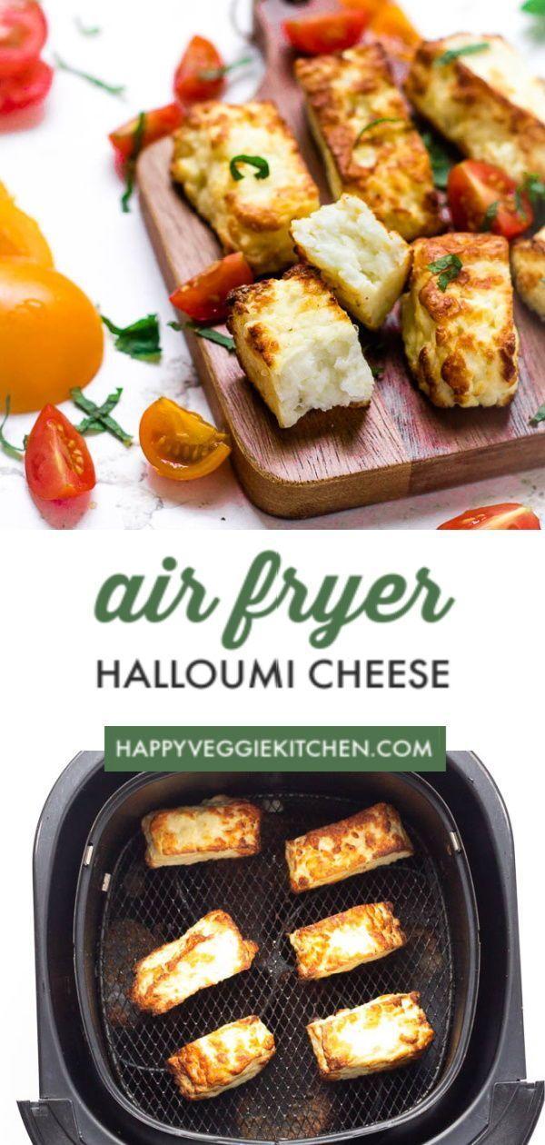 Air Fryer Halloumi Cheese Recipe Halloumi Fried Halloumi Air Fryer Recipes Easy