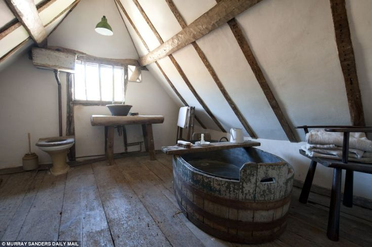 The 500-year-old sloping bathroom floor had to be levelled, so the water didn¿t spill ever...