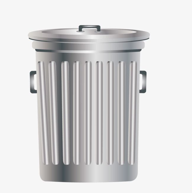 Silver Trash Can With A Lid Can Clipart Silver Trash Can Png Transparent Clipart Image And Psd File For Free Download Can Clipart Trash Can Small Trash Can