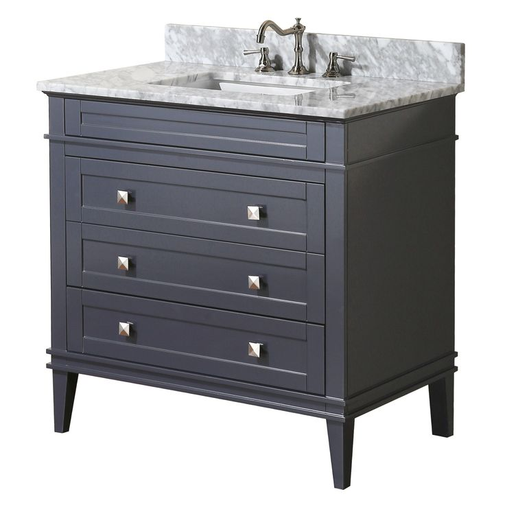 Eleanor 36-inch Vanity (Carrara/Charcoal Gray)