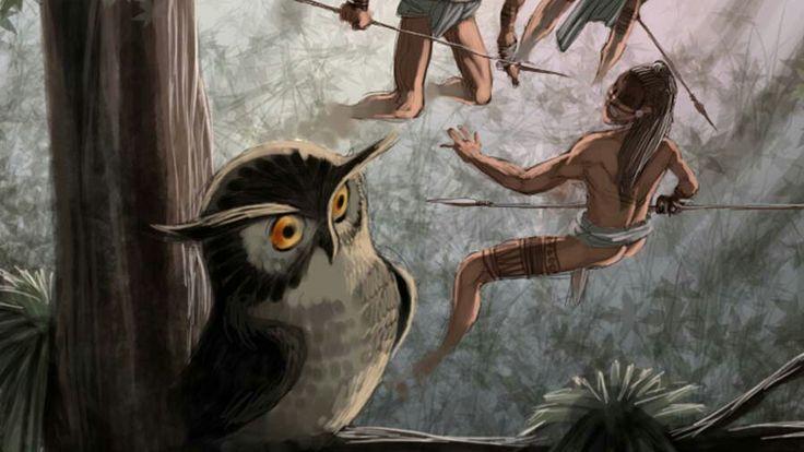 """Cuando el tecolote canta, el hombre muere, eso dice ésta leyenda -  En El Ma'ya'ab (Yucatán) vive un ave misteriosa, siempre va sola y vive entre las ruinas. Es el """"tecolote"""" o """"tunkuluchú"""", cuentan que su con su canto anuncia la muerte. Unos dicen que lo hace por maldad, otros porque al tunkuluchú le gusta pasear por los cementerios en las noches oscuras, hasta hay quien dice que hace años, una bruja maya, murió y se convirtió en tunkuluchú.    La leyenda más popular es esta:  Hace muchos…"""