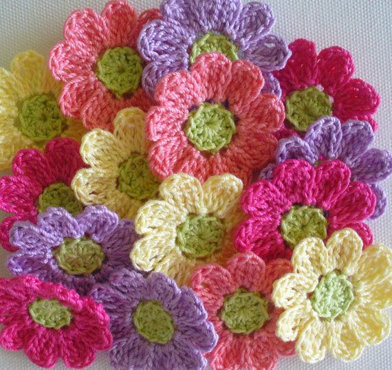 Small  Flowers, Appliques, Scrapbooking, Sewing - set of 16