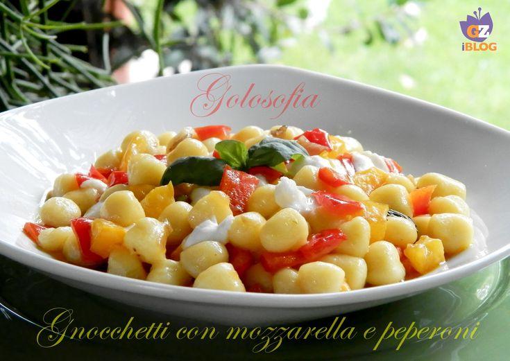 Gnocchetti mozzarella e peperoni, buonissimo primo piatto, semplice e veloce da preparare!