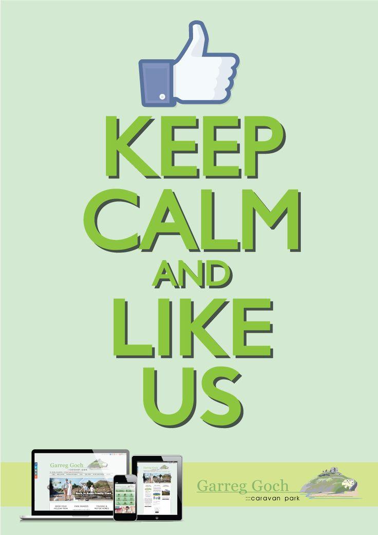 #KeepCalm & like @garreggochpark on #Facebook