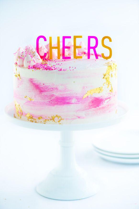 Watercolor Buttercream Party Cake   Sweetapolita