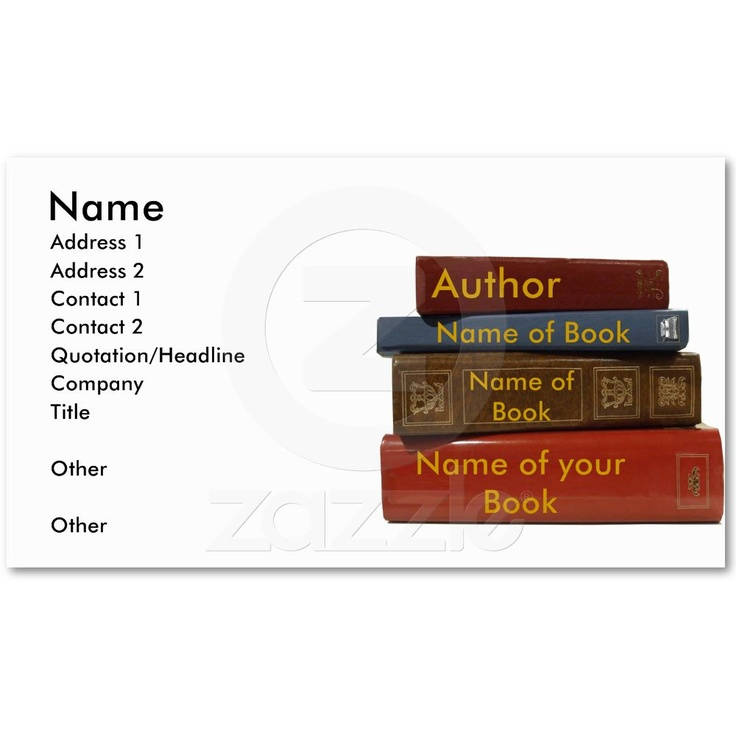 14 best images about author promotional items on pinterest for Authors business cards