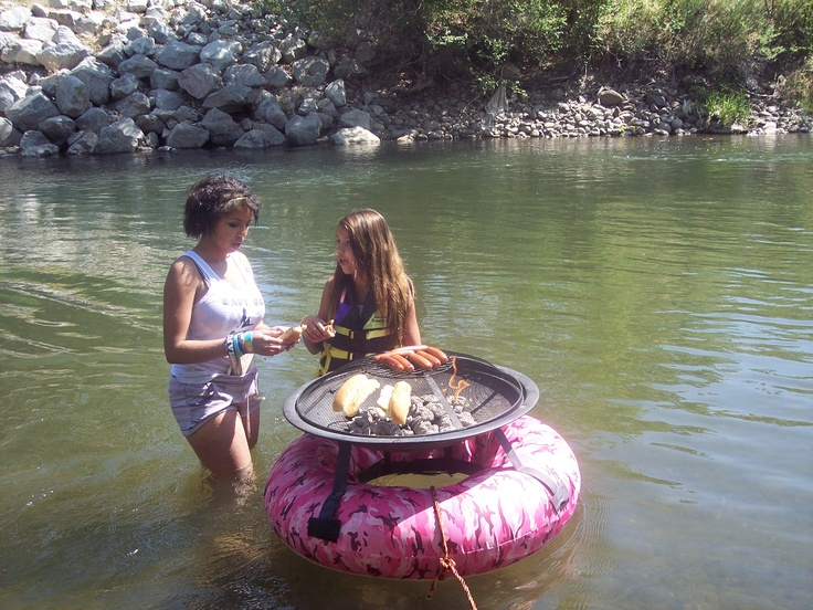 Chillin on the river. - 8 Best The Floating Fire Pit Images On Pinterest Fire Places