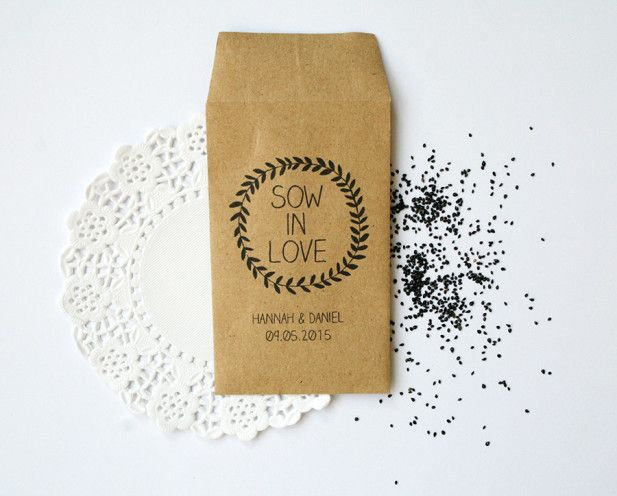 Forget Me Not flower seed favor