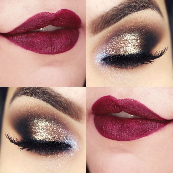 Makeup for red dress