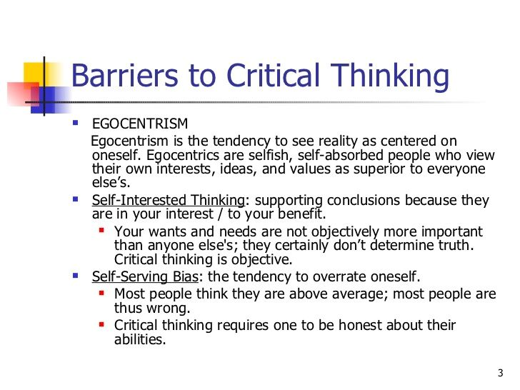 barriers to critical thinking definition Barriers to critical thinking we have discussed the attributes of good critical thinking skills however, even though we are becoming more adept in practicing these skills, barriers can arise that may hamper the process.