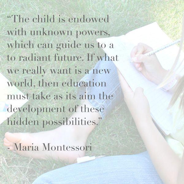 Maria Montessori Quotes: Best 25+ Maria Montessori Quotes Ideas Only On Pinterest